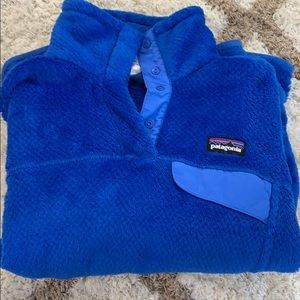 Patagonia blue pullover women's XS